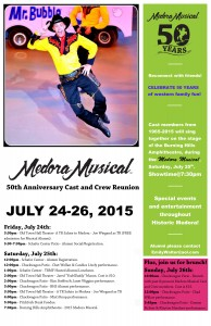 50th Anniversary Medora Musical Cast and Crew Reunion – Schedule of Events