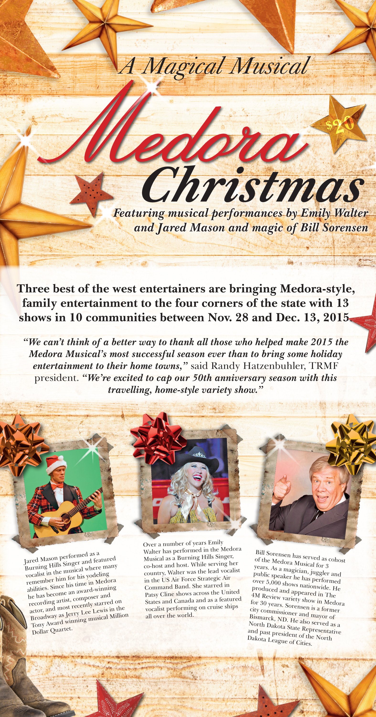 A Magical Musical Medora Christmas – NOTES FROM THE TRAIL