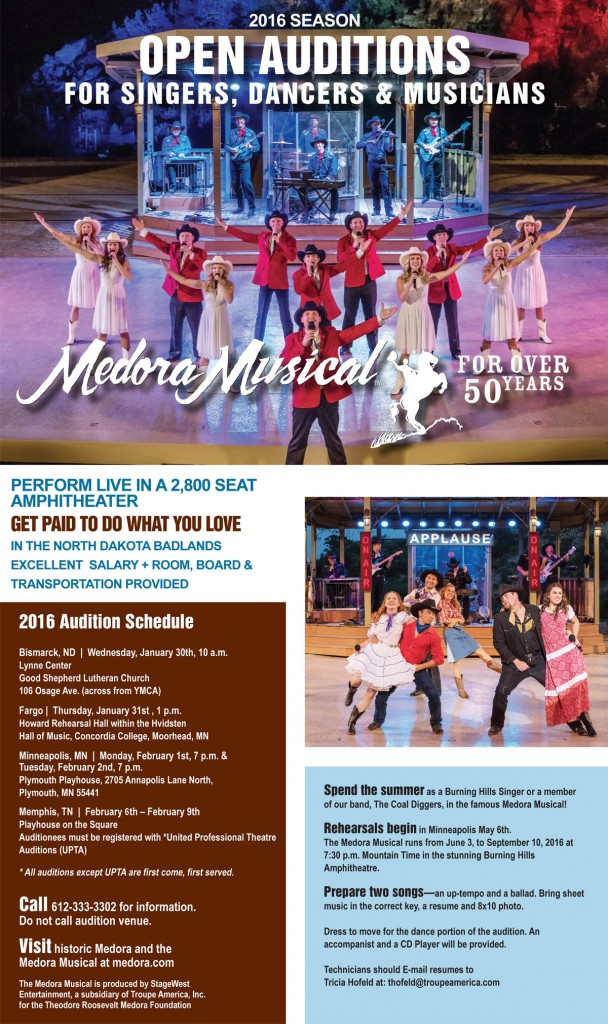 Medora Musical Auditions Begin This Weekend