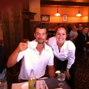 instagram - replace Selfie 1 with Chris Berg - josh duhamel at theodores
